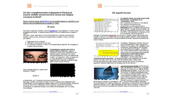 bc9fd6a9eaad Posizionamento sui motori di ricerca di un sito in Flash