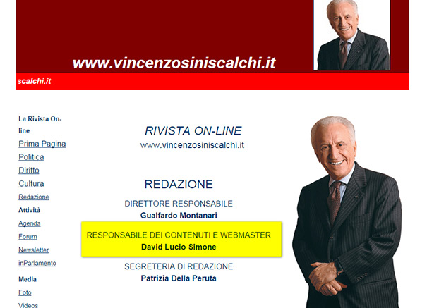 Siniscalchi Webmaster